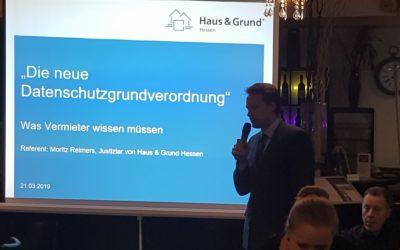 29.03.2019: Rückblick Vortrag zur DSGVO
