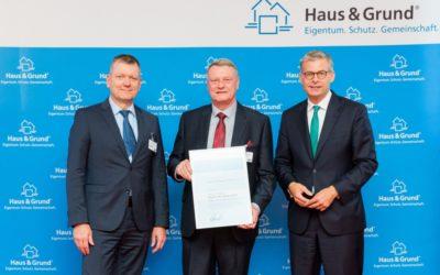 31.05.2019: Ehrung durch Zentralverband Haus & Grund Deutschland